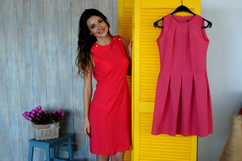 Красивое женское платье, коралловое платье, магазин женской одежды, Новая коллекция одежды