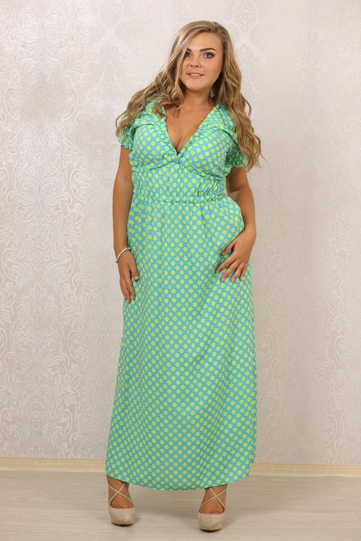Женское платье в пол, платье в горох большого размера, одежда больших размеров, новая коллекция